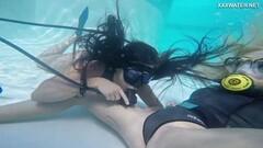 Naughty Hungarian lesbian underwater Vodichkina and Farkas Thumb