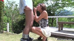 JAV amateur sucking cock outdoors Thumb