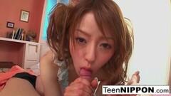 Tiny Sweet Asian cutie gives a POV blowjob Thumb