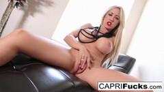 Sexy Capri Cavanni rubs her tight wet pussy Thumb