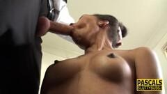 Naughty Ebony submissive throated asian Thumb