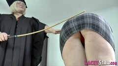 Sexy Caning lesbian granny Lacey Starr Thumb