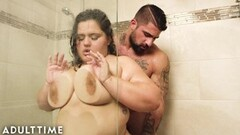 ADULT TIME BBW Karla Lane Steamy Shower Sex With Lover Thumb