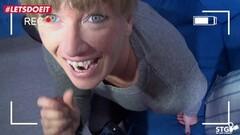 LETSDOEIT - Mature German Wife Nailed Hard On Tape Thumb