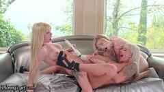 Frisky MILF Nina Elle Teaches Lesbian Step Teens Squirting Thumb
