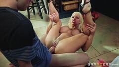 Barbie Sins slobbering on a big cock Thumb
