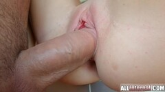 Allinternal April Blue gushes cum out of her fucked hole Thumb