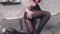 Randy babe Nina Devil masturbating Thumb