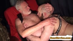Doggystyling the leather cum Thumb
