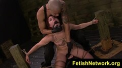 Rose Red crammed in her pussyhole while bounded Thumb
