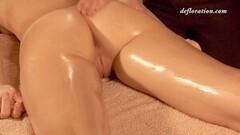 Hottest virgin massage Elena Seregyna gets massaged Thumb