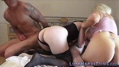Milf and brit with huge tits in foursome Thumb