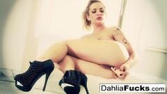 Frisky Sexy Dahlia Dildos Her Tight Wet Pussy! Thumb