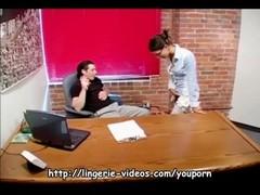 Petite nerdy secretary fucking in lingerie Thumb