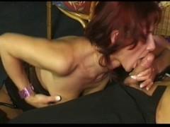 Mature redhead earns her cumshot Thumb