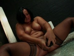 BBW with a huge black dildo Thumb