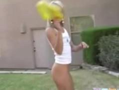 Cheerleader Cheers Naked Thumb