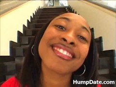 Hot ebony babe Honeycomb gets analized Thumb