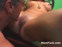 Old dude doggy fucks booty mature babe as hot daughter watches Thumb