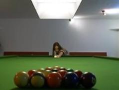 Lesbian sex on the billiards Thumb