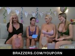 Hot blonde big tit lesbian bday girl fucked rough Thumb