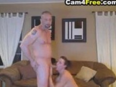 Deepthroating wife made him cum inside her mouth Thumb