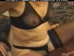 Skinny Mature  In Stockings Fucks mature mature porn granny old cumshots cumshot Thumb