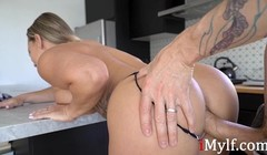 Eating a MILF in her Kitchen- Cali Carter Thumb