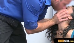 Cute latina shoplifter gets rough fucked on the CCTV Thumb