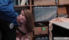 Shoplifter Alina West enjoys the way LP Officer fucks her Thumb