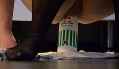 Insertion, eine Flasche reitet, anal Thumb