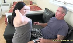 Janessa Shows Mom and Dad What She Learned at School Thumb