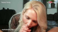 MyDirtyHobby - Busty MILF step-mom deepthroats and facialized Thumb
