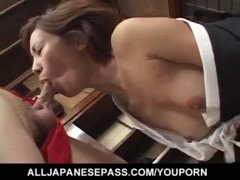 Nana Nanami gets cum on ass cheeks from sucked dicks after fuck - More at hotajp.com Thumb