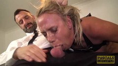 PASCALSSUBSLUTS UK MILF Sasha Steele Ass Fucking Domination Thumb