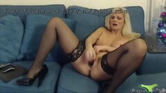 Wonderful English rose Samantha with lingerie and high heels Thumb